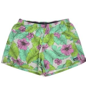 Patagonia Baggies Shorts Best Fronds Feather Gray